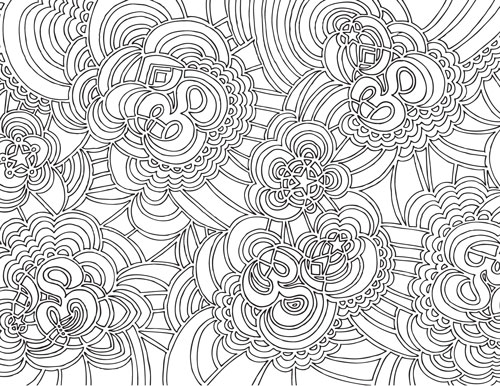 Namaste Drawing Meditation (coloring book page)